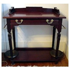 Antique Hall Stand Victorian Mahogany