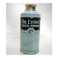 Advertising Tin For Dr. Lyons Sample Tooth Powder Sample Unopened Medical Pharmacy