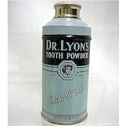 Dr. Lyons Sample Tooth Powder Advertising Tin Mint Unopened