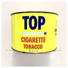 SOLD    See Other Tobacco Tins Available  TOP Cigarette Advertising Tobacco Tin
