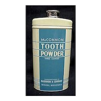Advertising McConnon Tooth Powder Tin Mint Condition Medical Pharmacy