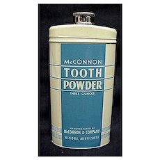 McConnon Tooth Powder Tin Mint Condition REDUCED