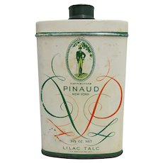 Pinaud Lilac Talc Advertising Tin from Drugstore or Pharmacy