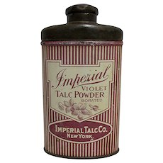 Imperial Violet Talc Powder Advertising Tin