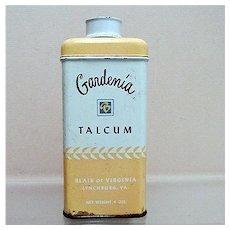 SOLD    Advertising Tin For Gardenia Talc