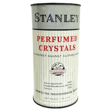 Stanley  Perfumed Crystals  Advertising Tin Circa 1950