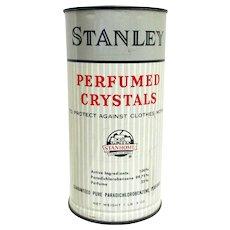 Stanley  Perfumed Crystals  Advertising Tin
