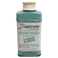 Diaparene Dusting Powder  ¾ ounce Tin Baby Powder