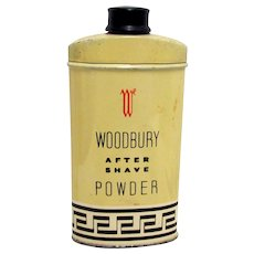 Woodbury After Shave Powder Talc Advertising Tin