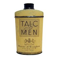 Talc for Men House of Croydon Advertising Tin from Pharmacy or Drugstore