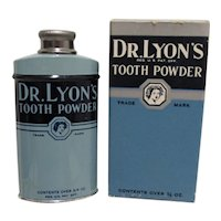 Dr. Lyons Tooth Powder Advertising Tin in Original Box with Brochure