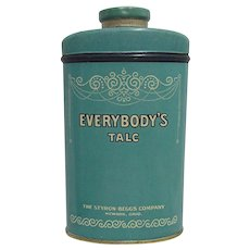 Everybody's Talc Advertising Tin by Styron Beggs Company Newark Ohio