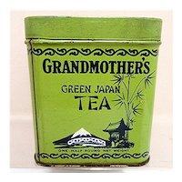 Grandmothers Tea Advertising Tin