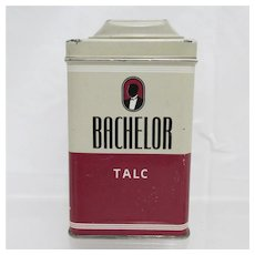 Bachelor Talc Advertising Tin