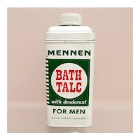 Advertising Talc Tin For Mennen Talc for Men