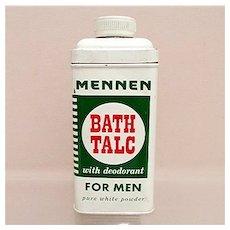 Advertising Talc Tin For Mennen Talc for Men