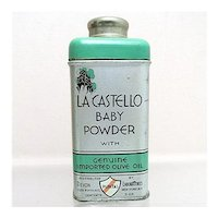 Baby Powder Advertising Tin La Castello 3 ounce Size