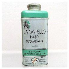 Baby Powder Advertising Tin La Castello 3 ounce Size