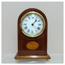 Antique Clock Edwardian with Inlay for Mantel Desk or Table MINT