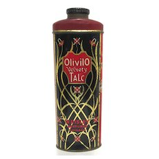 Olivilo Velvety Advertising Talc Tin From Chicago
