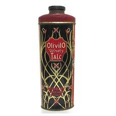 Olivilo Velvety Advertising Talc Tin From Chicago