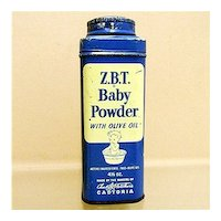 Advertising Tin For ZBT Baby Powder  4 1/2 ounce Size