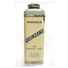 Foot Powder Advertising Tin Mennen Quinsana