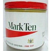 Mark Ten Virginia Advertising Tobacco Tin