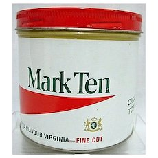 Mark Ten Virginia Advertising Tobacco Tin