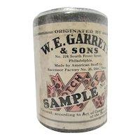 Snuff Advertising Tin SAMPLE W. E. Garrett & Sons