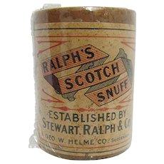 Ralphs Scotch Snuff  Advertising Tin