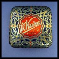 Candy Tin Art Nouveau and Gold Leaf Decoration