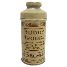 Advertising Talc Tin  Sample Size Buddy Brooks