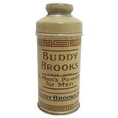 Advertising Talc Tin  Sample Size Buddy Brooks