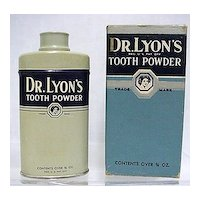 Advertising Dr. Lyons Sample Tooth Powder Tin 3/4 oz. Size Unopened In Box Medical Pharmacy