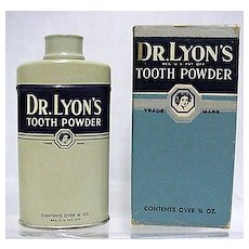 Dr. Lyons Sample Tooth Powder Tin 3/4 oz. Size