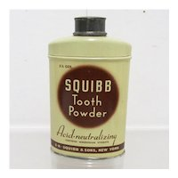 Advertising Tin For Squibb Tooth Powder Unopened Medical Pharmacy