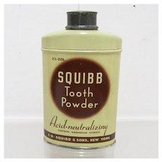 Squibb Tooth Powder Antique Drugstore or Pharmacy item