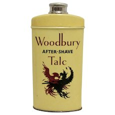 Woodbury  After Shave Talc Advertising Tin