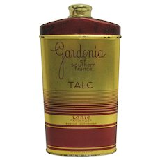 SOLD  November 2020 Lorie Gardenia of Southern France Talc Advertising Tin