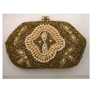 Purse or Hand Bag Beaded for Coins or Compact