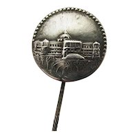 Stick Pin Silver Souvenir Antique Stickpin, Scarf, Cravat, Ascot or Tie