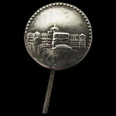 Silver Souvenir Antique Stickpin, Scarf, Cravat, Ascot or Tie