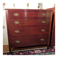 Antique Sheraton Chest of Drawers Solid Cherry