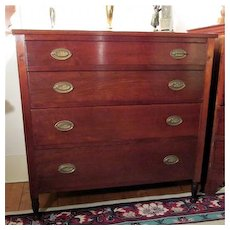 Sheraton Chest of Drawers Solid Cherry