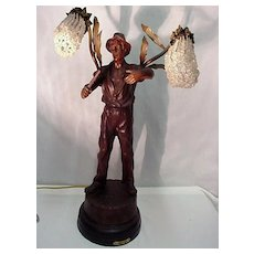 Table Lamp Antique French Statuary  Electrolier