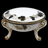 Nippon Porcelain Covered Trinket Dish