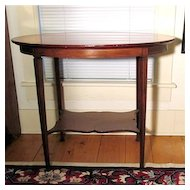 Marquetry Oval Center Table Mahogany