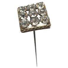 "Hat Pin 10"" Long Gold Gilt Brilliance Head Hatpin"