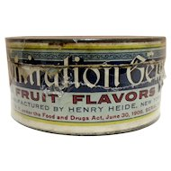 Heides  Fruit Flavored Candy GEMS Advertising Tin